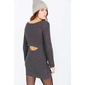 Silence + Noise Knit Sweater Dress w/ Back Cutout